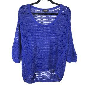 T. Babaton Linen Silk Blend Open Knit Sweater XS